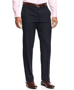 Lauren Ralph Lauren  - Wool-Blend Flat-Front Dress Pants