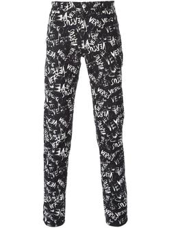 Versus   - Script Print Trousers