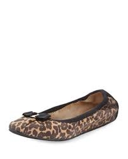 Salvatore Ferragamo - My Joy Leopard-Print Suede Flat Shoes