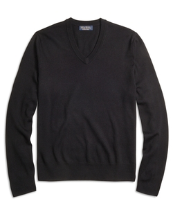 Brooks Brothers - Saxxon Wool V-Neck Sweater
