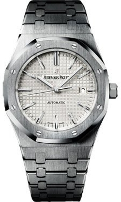 Audemars Piguet  - Royal Oak Silver Dial Stainless Steel Automatic Mens Watch
