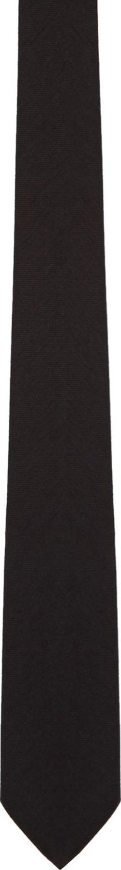 Givenchy  - Black Monogram Tie