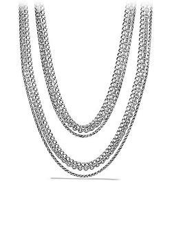 David Yurman  - Three-Row Chain Necklace