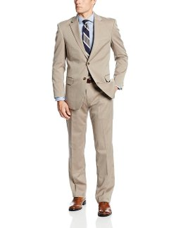 Tommy Hilfiger  - Graham Herringbone Two-Button Side-Vent Suit
