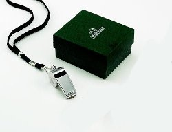 A & L Engraving - Silver Coach Whistle With Lanyard Engraved Free