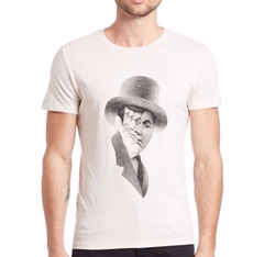 Tee Library  - Surreal Face Sequence in Top Hat Tee
