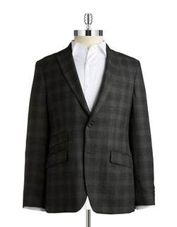 Black Brown - Slim-Fit Plaid Blazer