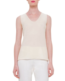 Akris - Sleeveless Silk Georgette Shell Top