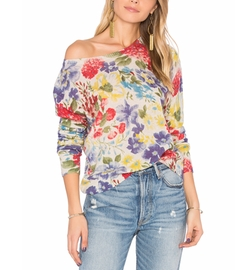Autumn Cashmere - Crop Floral Sweater