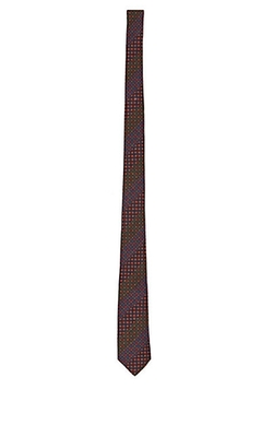 Alexander Olch - Striped & Medallion-Print Necktie
