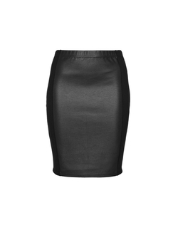 Zhenzi - Mixed Material Pencil Skirt