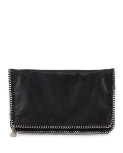Stella McCartney  - Faux Leather Falabella Fold-Over Clutch Bag