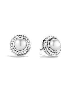 David Yurman - Petite Cerise Earrings with Pearls and Diamonds