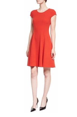 Armani Collezioni - Cap-Sleeve Fit-&-Flare Dress