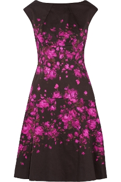 Lela Rose - Floral-Print Stretch-Cotton Dress