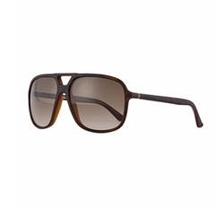 Gucci - Injected Shiny Aviator Sunglasses