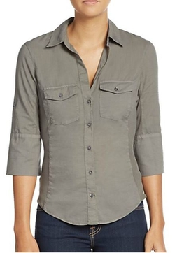James Perse  - Ribbed Panel Button Front Top