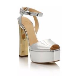 Giuseppe Zanotti - Metallic Leather Platform Sandals