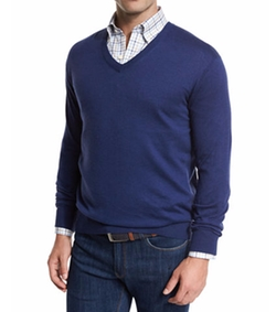 Peter Millar - Crown Cotton/Silk V-Neck Sweater