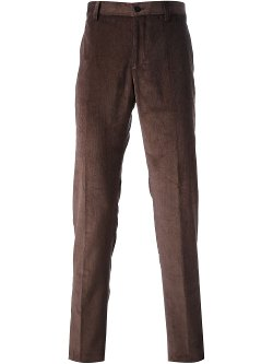 Etro  - Straight Leg Corduroy Trousers