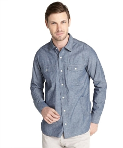 Paper Denim & Cloth - Chambray Long Sleeve Cotton Work Shirt
