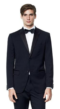 Theory - Weller PE Tuxedo Jacket in Hamburg Wool