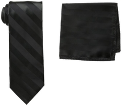 Stacy Adams - Solid Woven Formal Stripe Tie