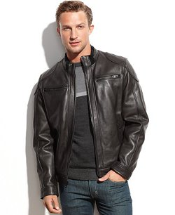 Calvin Klein - Leather Moto Jacket