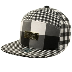 SK Hat Shop - Plaid Panel Snapback Cap