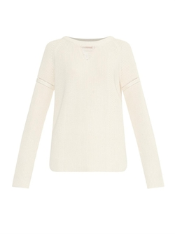 Wes Gordon - Ribbed Cotton-Blend Sweater
