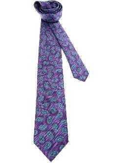 BRIONI  - paisley print tie