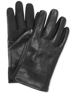 UR Gloves - Leather Sweater-Knit Stretch-Tech Palm Gloves
