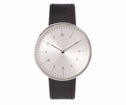 MMT   - C 18s Stainless-Steel and Leather Watch