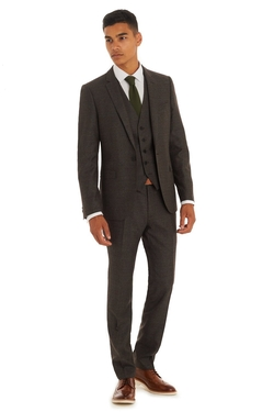 Moss London - Slim Fit Italian Cloth Check Suit
