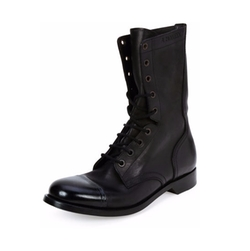 Alexander McQueen - Cap-Toe Leather Combat Boots