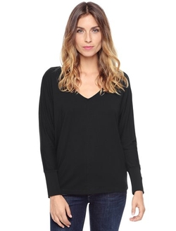 Splendid - Metallic Trim Double V Tee