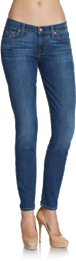 7 For All Mankind  - Gwenevere Faded Skinny Jeans