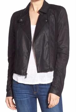 Paige Denim  - Silvie Suede & Leather Moto Jacket