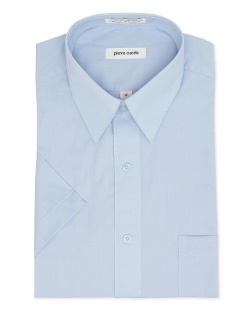 Pierre Cardin  - Short Sleeve Blue Dress Shirt