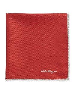 Salvatore Ferragamo - Silk-Twill Pocket Square, Red