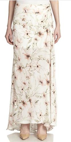 Haute Hippie - Floral-Print Silk Maxi Skirt