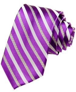 Alara ly - Modern Stripe Silk Tie