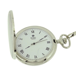 Royal London - Gents Silvertone Roman Numerals Pocket Watch