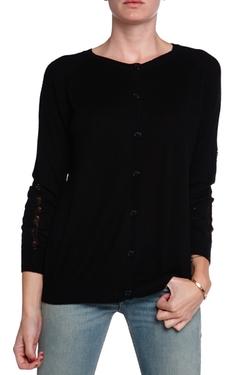 Minden Chan - Ripline Button Up Cardigan Sweater