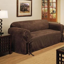 Madison Industries - Microsuede Slipcover Sofa