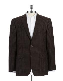 Vince Camuto  - Modern Fit Plaid Blazer