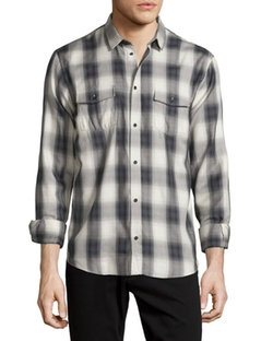 Iro - Albion Check-Plaid Long-Sleeve Sport Shirt