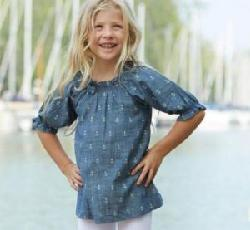 Maya Papaya and Tony Macarony - hatley anchors chambray tunic