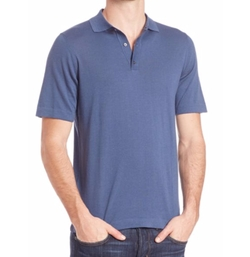 Saks Fifth Avenue Collection  - Short Sleeve Polo Shirt