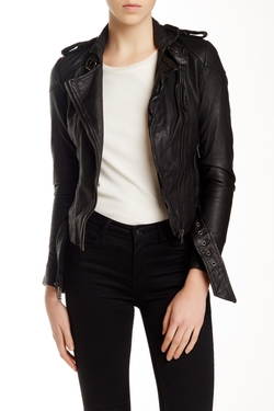 Muubaa - Asha Genuine Leather Bomber Jacket